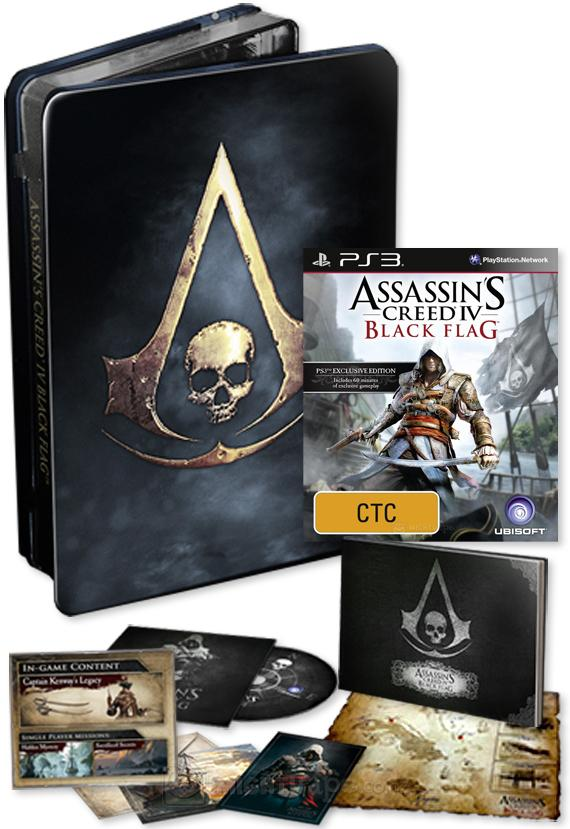 Assassin's Creed 4 (IV) Black Flag  Skull Edition (Рус)(некондиция)