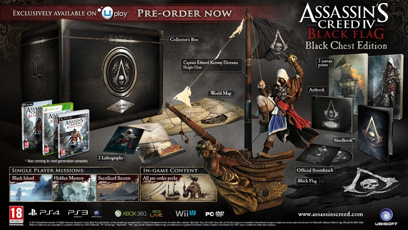 Assassins Creed 4 (IV) Black Flag (Чёрный Флаг) Black Chest Edition