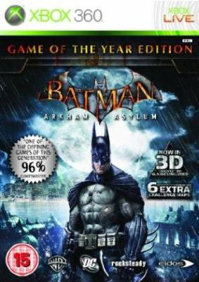 Batman: Arkham Asylum Game Of The Year