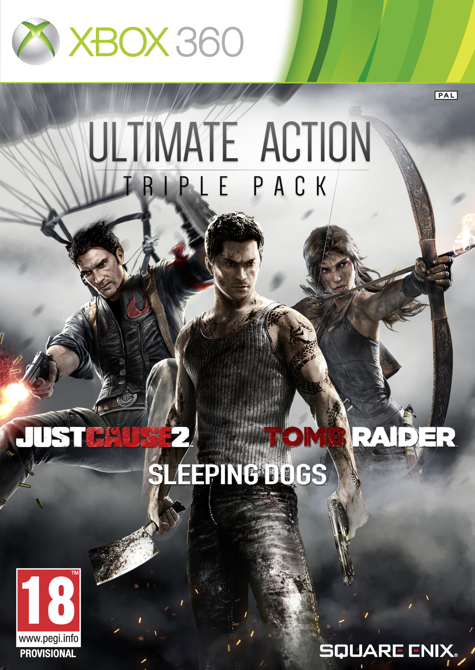 Комплект: Sleeping Dogs + Tomb Raider + Just Cause 2