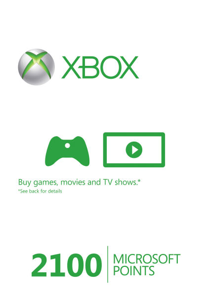 Карта оплаты Microsoft Xbox Live Points 2100