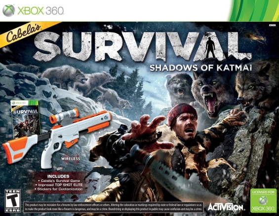 Cabela's Survival: Shadows of Katmai Top Shot Elite Bundle (Игра + ружье)