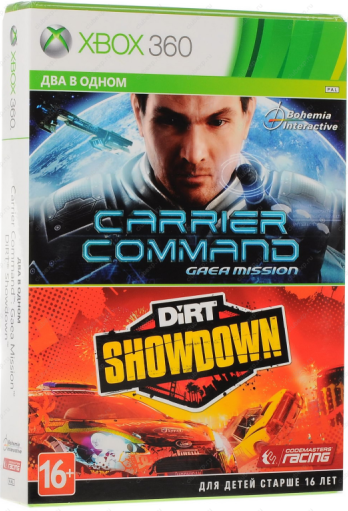 Два в одном: Carrier Command: Gaea Mission+DiRT Showdown (xbox 360)